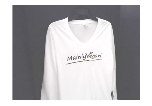 Mainly Vegan long-sleeved shirt (women's)