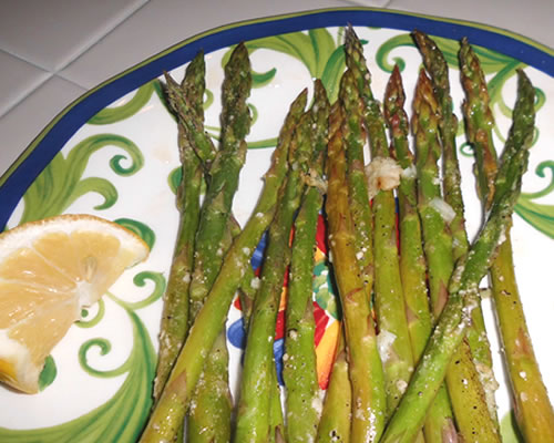 Mainly Vegan's grilled asparagus
