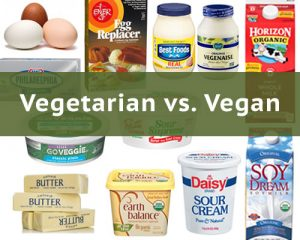 Mainly Vegan's comparison of vegetarian vs. vegan